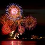 湖の花火大会