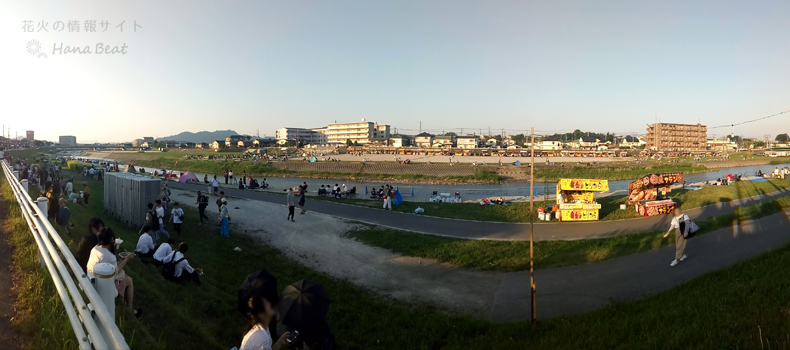 鹿沼さつき祭り花火大会2019 観覧会場